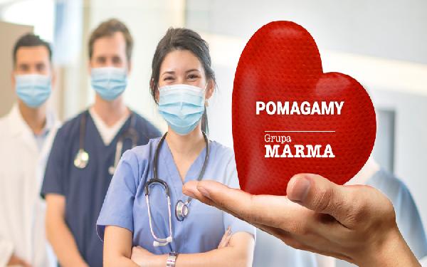Marma Polskie Folie przekazuje certyfikowaną włókninę do szycia maseczek ochronnych